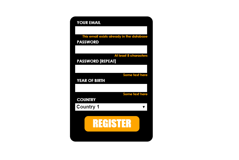 Website Registration HTML CSS Template