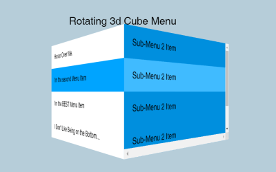 3d CSS Cube with Rotating Navigation Menu