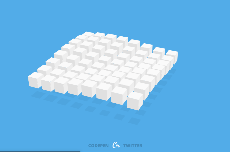Amazing HTML CSS Waving Cubes Example