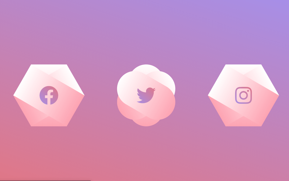 Butterfly Style Hexagon Shape CSS
