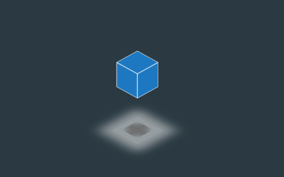 CSS 3D Cube Logo Animation with Shadow