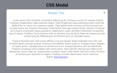 CSS Only Modal Box Website Design
