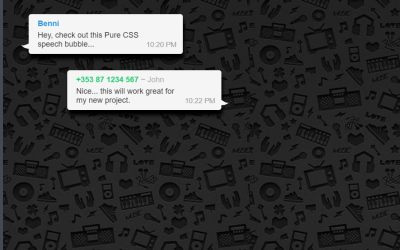 CSS Only WhatsApp Desktop Speech Bubble