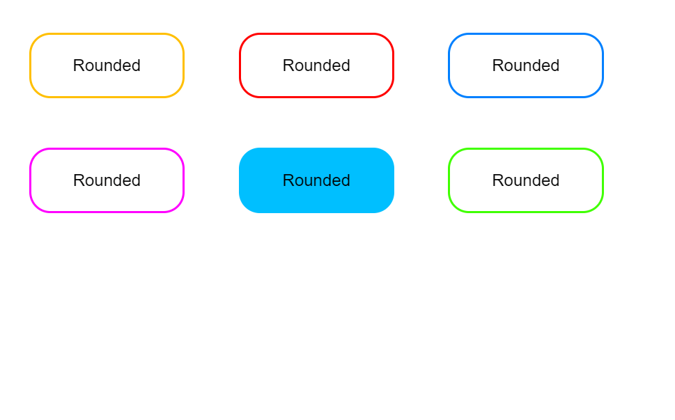 CSS Rounded Buttons Border Design