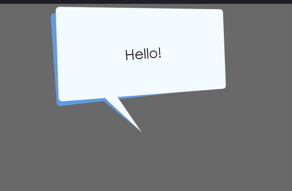 CSS Shape Speaking Speech Bubble Concept