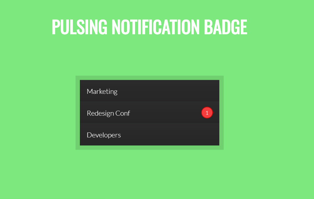 CSS3 Pulsing Notification Badge Snippet