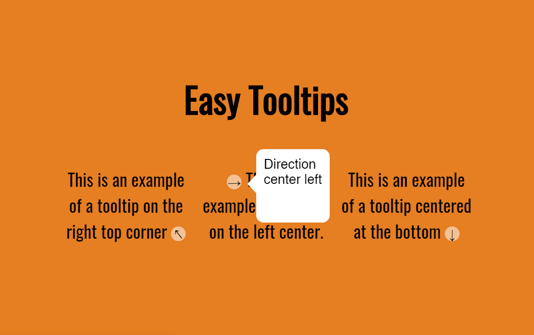 Easy HTML Tooltip Text Design Snippet