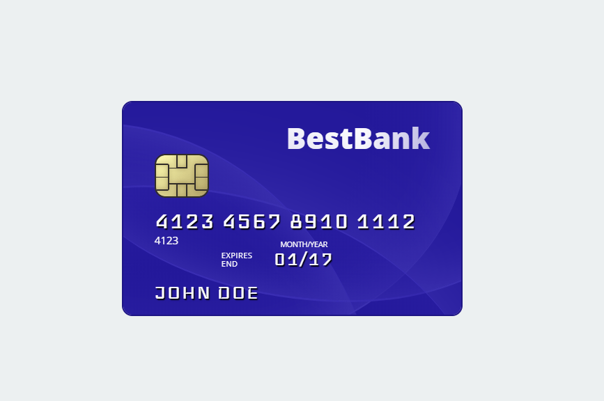 HTML CSS Only Simple Credit Card