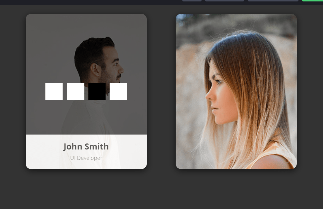HTML Profile Cards Design Example