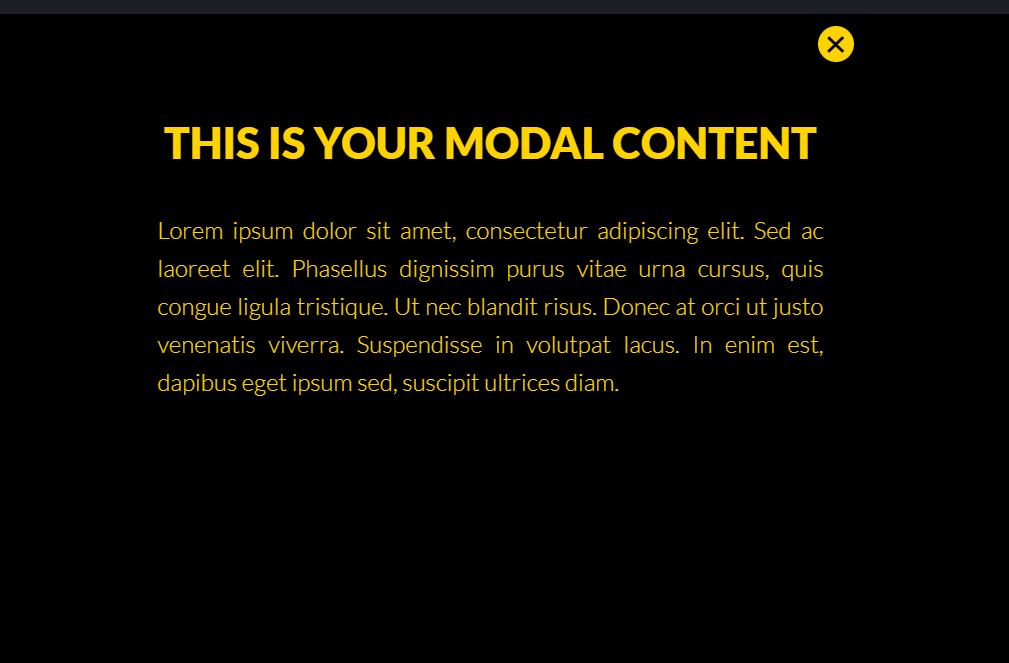 Modal Popup Window Using HTML CSS Checkbox