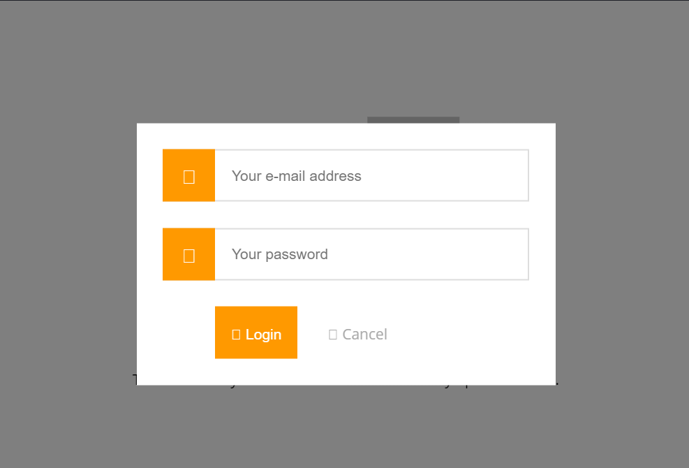 Modern CSS Modal Login Form Box