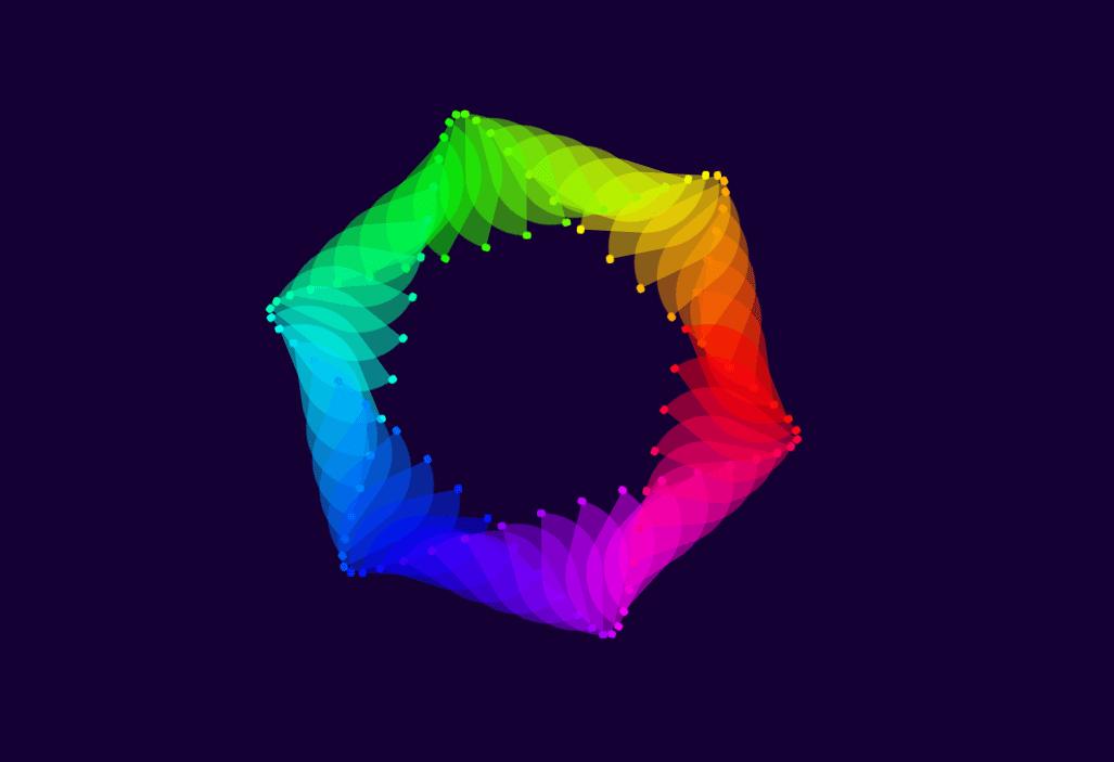 Pure CSS Hexagon Wave Rainbow Effect