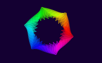 Pure CSS Hexagon Wave Rainbow Effect