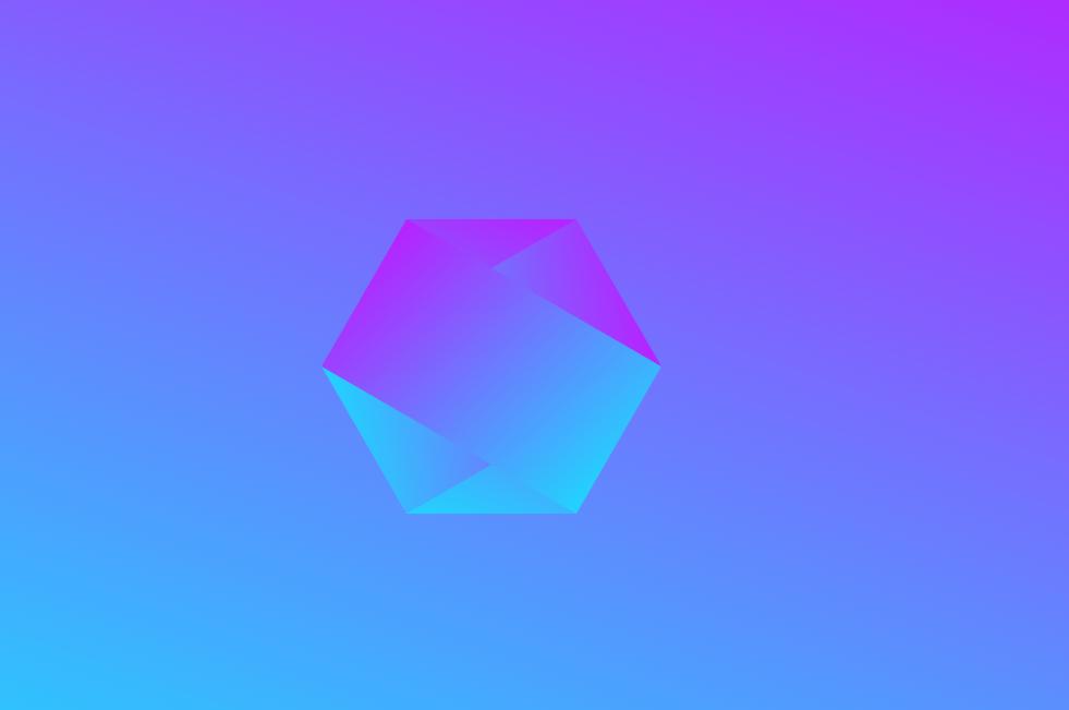Pure HTML CSS Hexagon Gradient Background