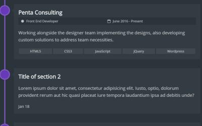 Vertical Timeline HTML Template