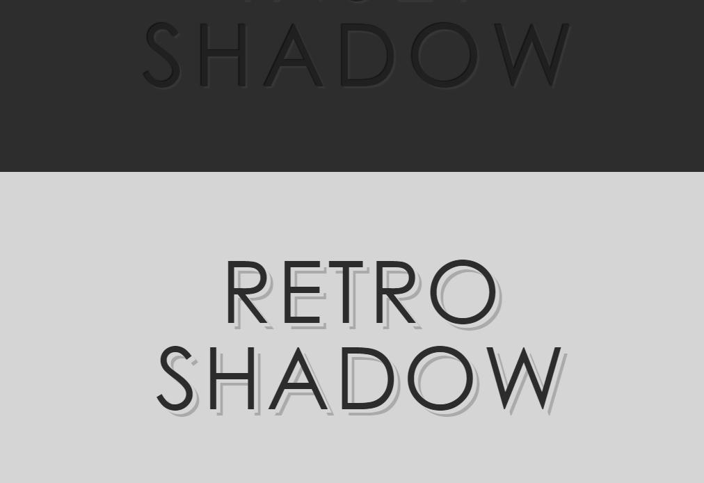 Add Elegant, Deep, Inset, Retro Shadow to Text