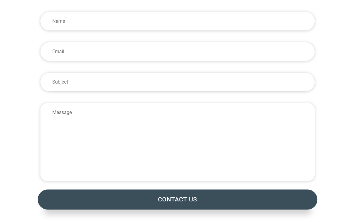 Animated Vue JS Contact Form Example