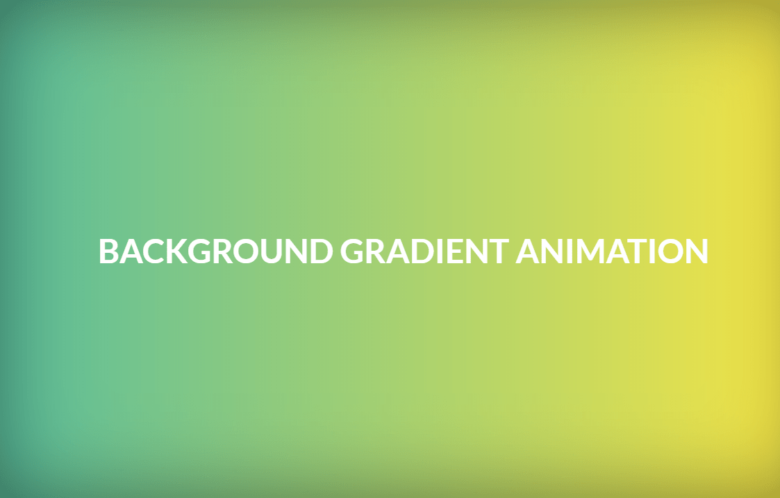 Background Color Linear Gradient Animation