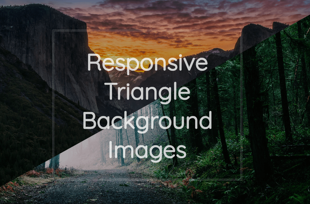 Background Image Triangle CSS Example