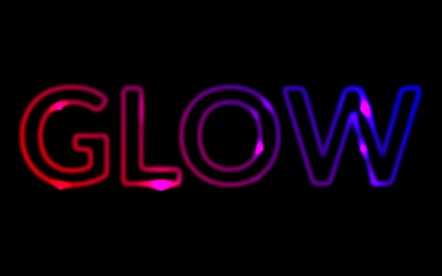 CSS Glowing Text Animation Snippet