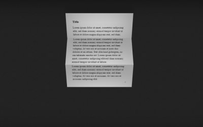 Folding Paper CSS3 Animation Effect
