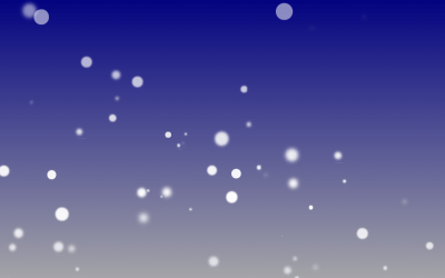 HTML CSS Snow Falling Bubble Effect