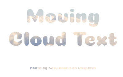 HTML Font Background Moving Cloud CSS Effect