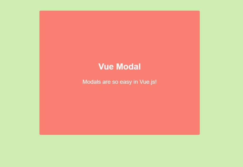 Modal Design Using Vue.js