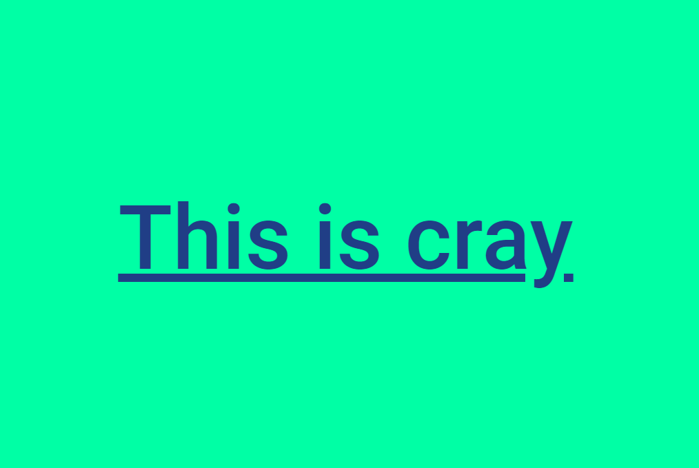 Simple Glitched Letters CSS Snippet