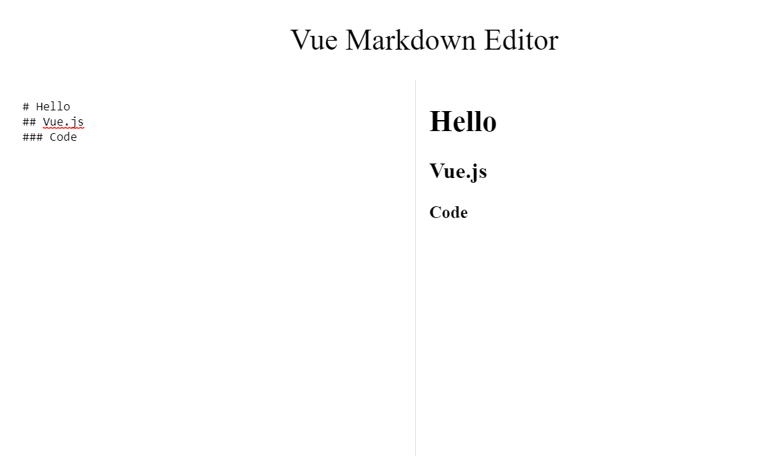 Simple Markdown Editor Made with Vue.js