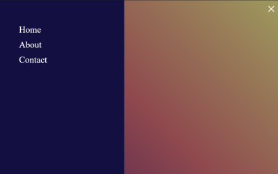 Vue JS Sidebar Menu Example
