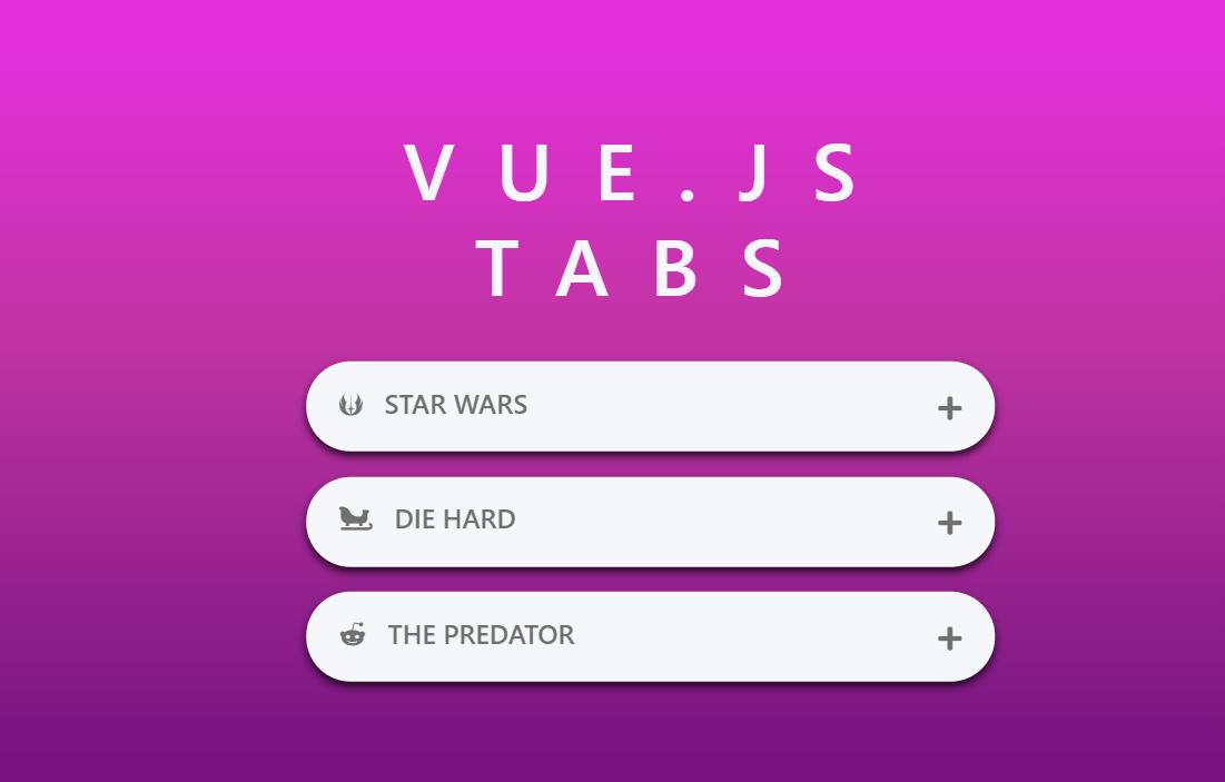 Vue Tabs Design Example