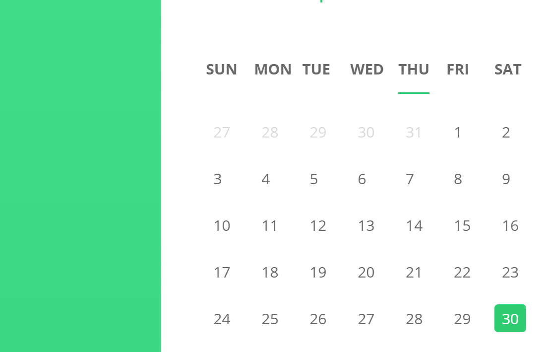 Calendar Design In React JS