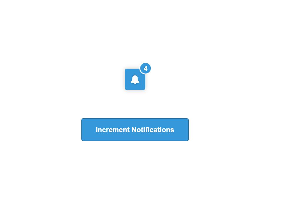 JavaScript Alert Notification Bell Icon