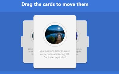 JS Draggable Card Carousel