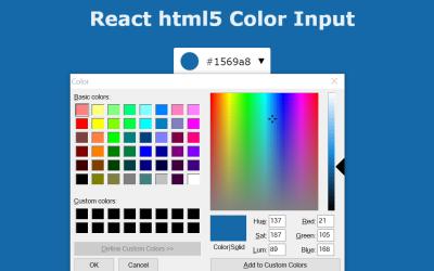 React HTML5 Color Input
