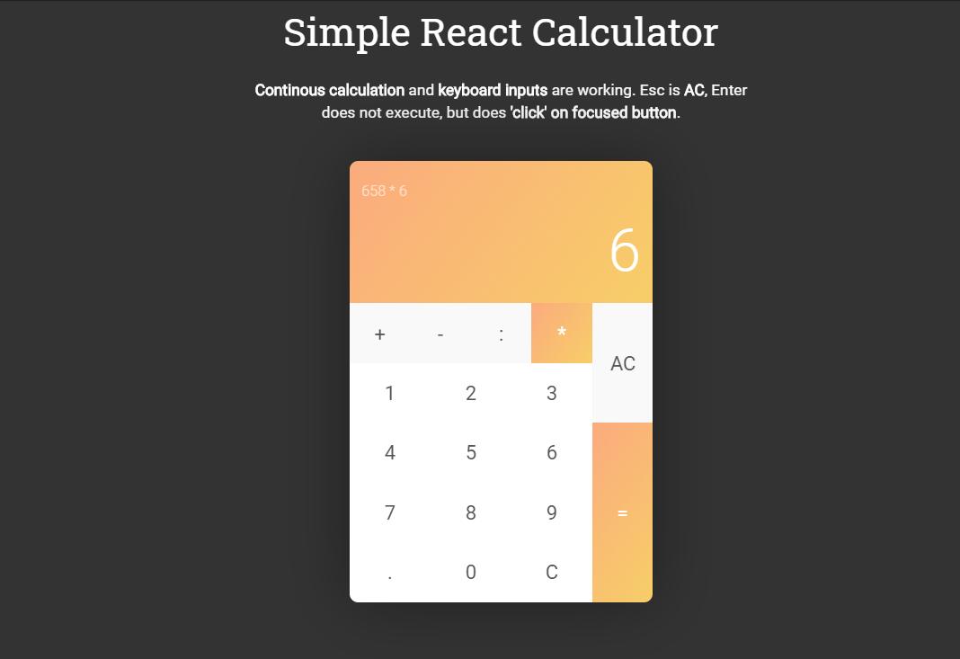 React.js Calculator Code Snippet