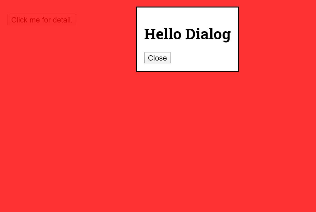 React JS Dialog Code Example