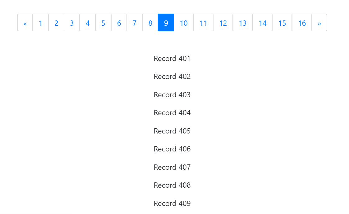 React Pagination Component