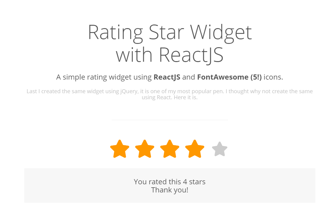 React Rating Stars Example