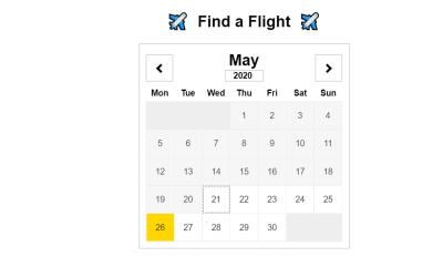 Reactjs Calendar Component