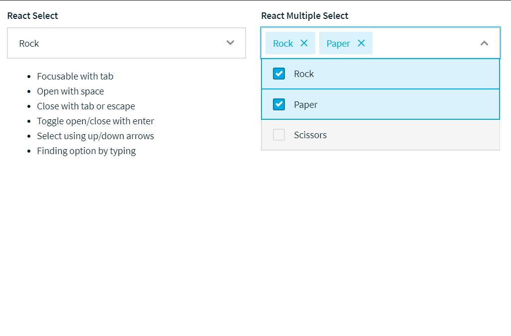 ReactJS Multi Select Dropdown