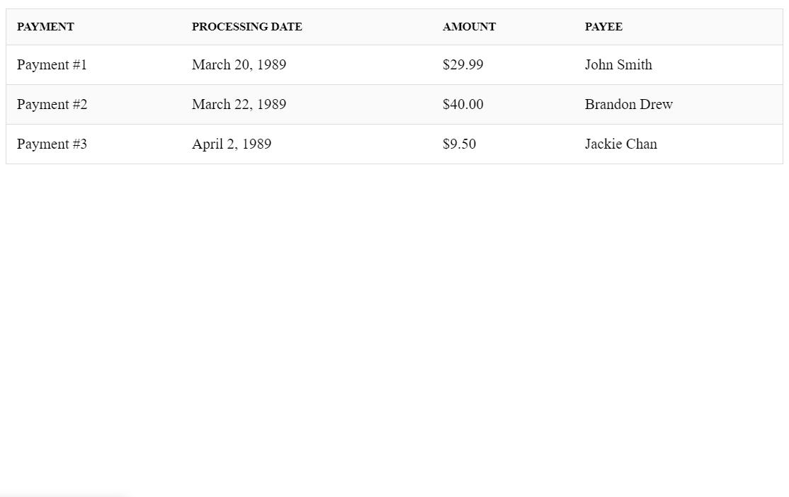 Simple Datatable in ReactJS