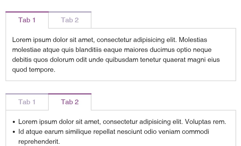 Simple Javascript Tabs Design