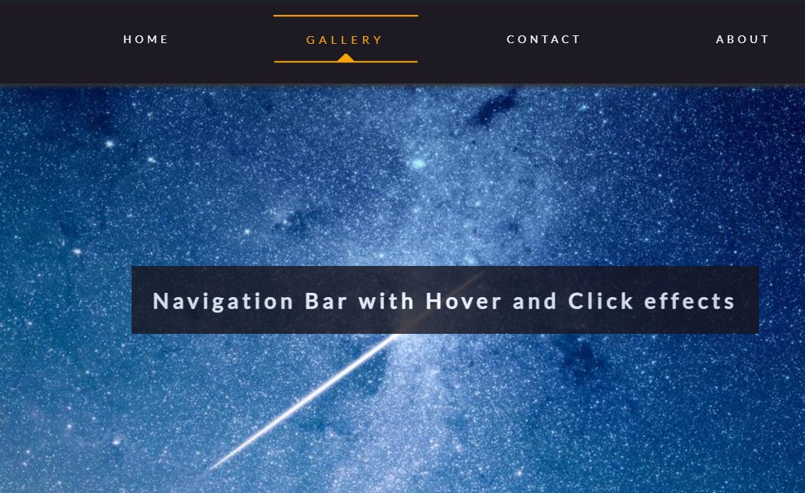 JavaScript Navigation Menu Example
