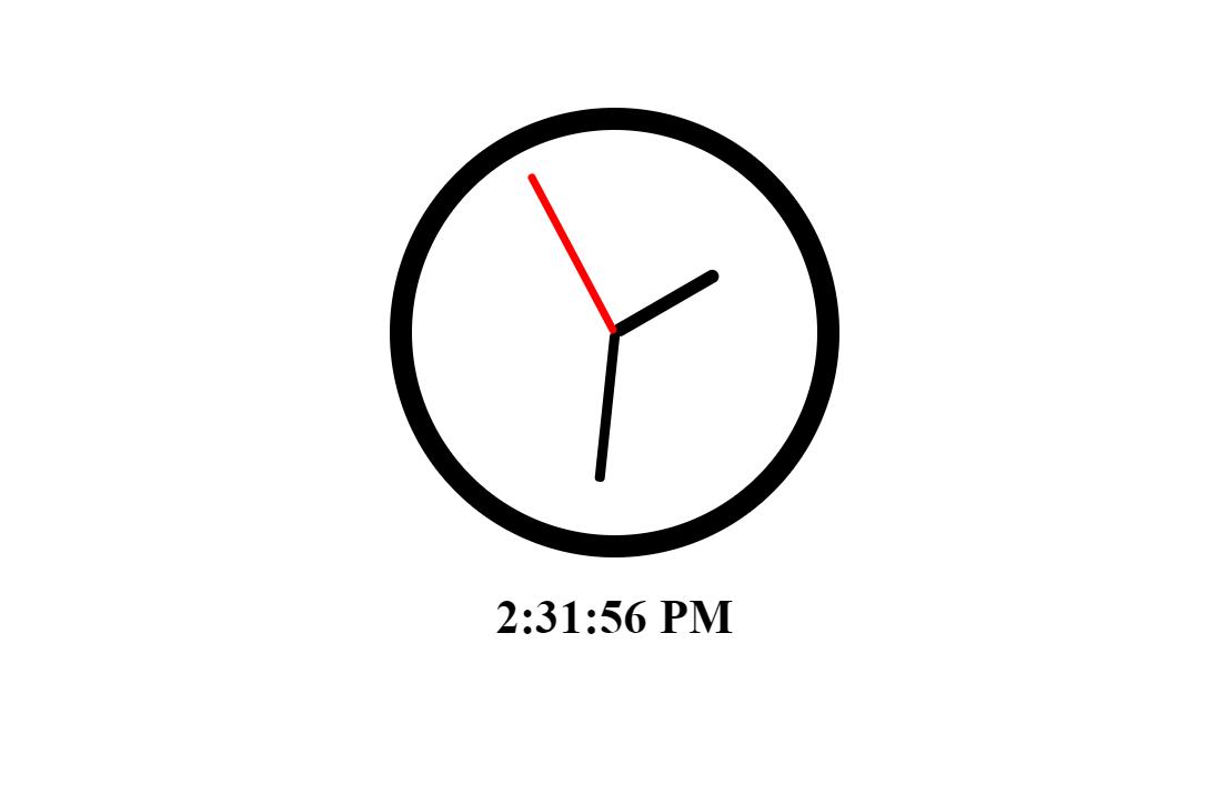 React JS Clock Code Snippet