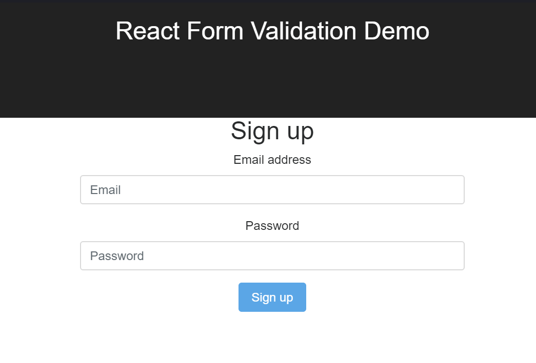 React Login Form Validation
