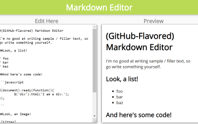 React Markdown Editor Component