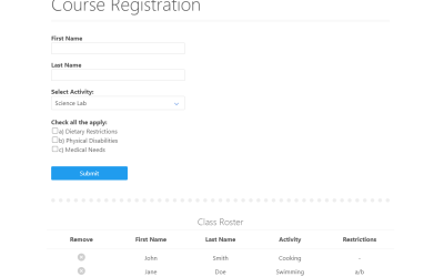 Simple Registration Form in React JS