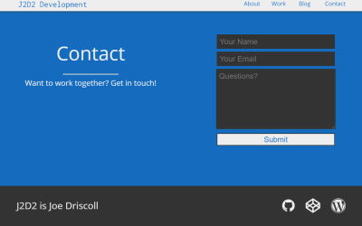 ReactJS Contact Page Design
